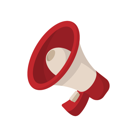 Megaphone icon, cartoon style, isolated on white. Best illustration for advertisement and promotion