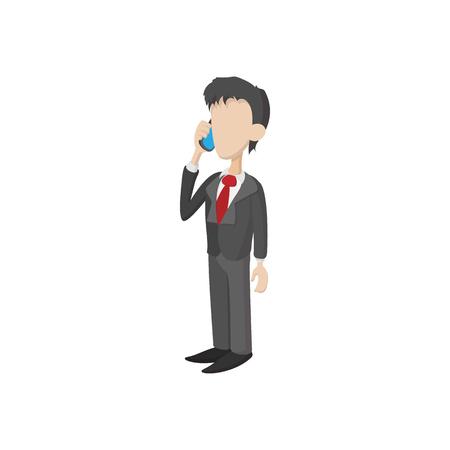 cartoon work: Businessman icon in cartoon style on a white background