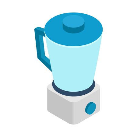 food processor: Food processor icon in isometric 3d style on white background