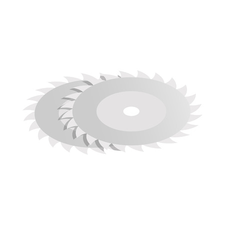 saw blade: Circular saw blade icon in isometric 3d style isolated on white background