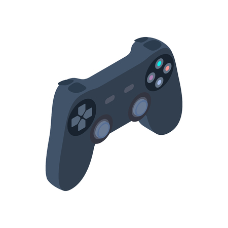 strife: Game controller icon in isometric 3d style isolated on white background Illustration