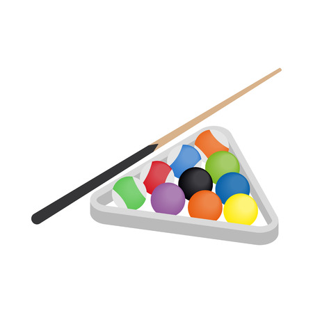billiards cue: Billiard icon in isometric 3d style isolated on white background. Game symbol Illustration