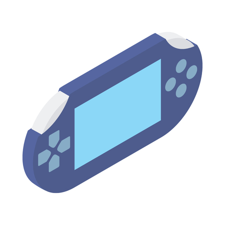 handheld device: Handheld game console icon in isometric 3d style isolated on white background