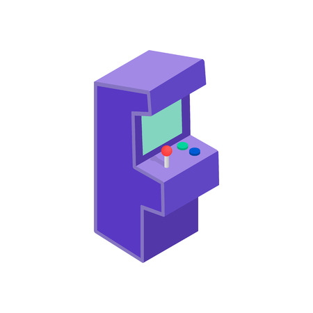 arcade: Arcade game machine icon in isometric 3d style on white background