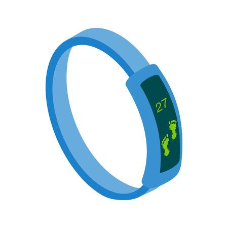 Fitness Tracker icône dans le style 3d isométrique sur un fond blanc Illustration