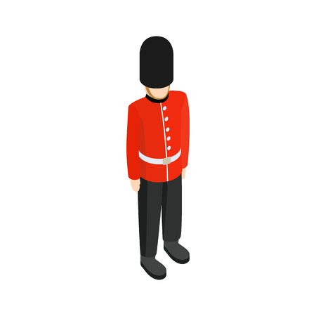 A Royal Guard icon in isometric 3d style on a white background