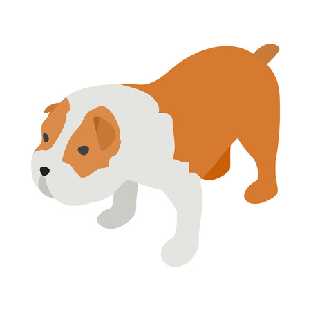 stafford: Staffordshire terrier icon in isometric 3d style on a white background