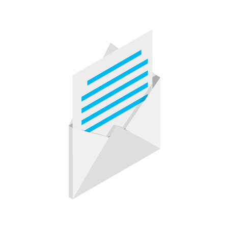 mail icon: Mail icon in isometric 3d style isolated on white background