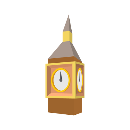 houses of parliament   london: Big Ben in Westminster, London icon in cartoon style on a white background Illustration