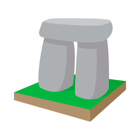 celts: Stonehenge icon in cartoon style on a white background