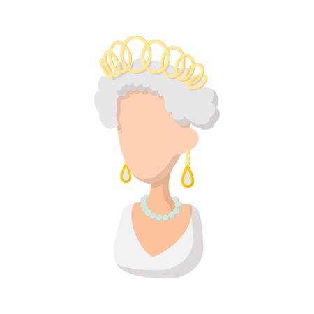 Elizabeth II britische Königin Symbol im Cartoon-Stil auf einem weißen Hintergrund Standard-Bild - 53348886