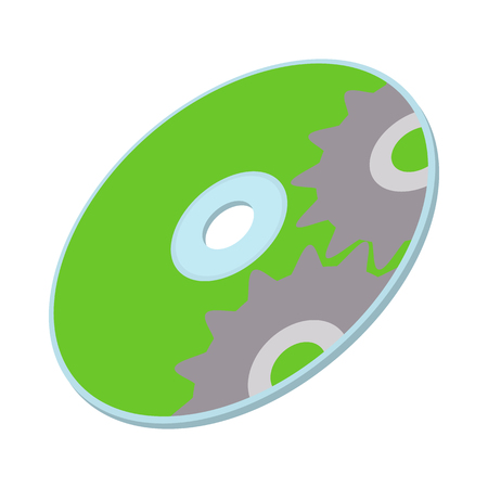optical disk: Data disc icon in cartoon style on a white background