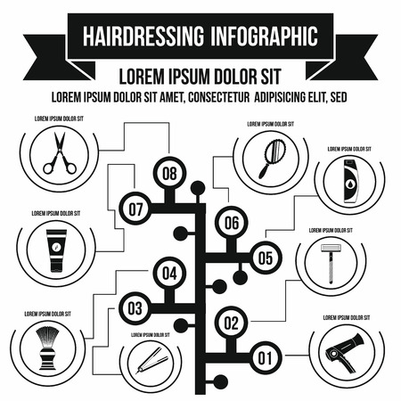 Hairdresser infographic in simple style for any design