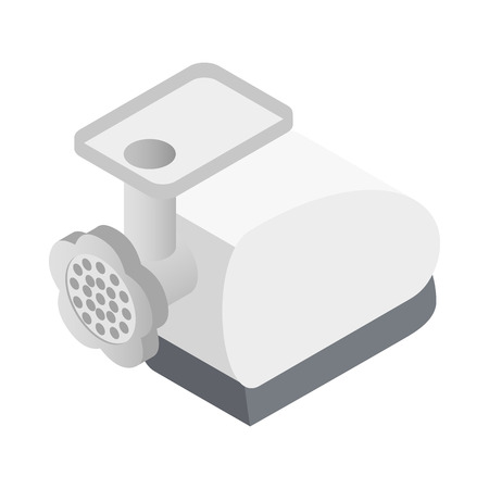 Meat grinder icon in isometric 3d style on white background Ilustrace