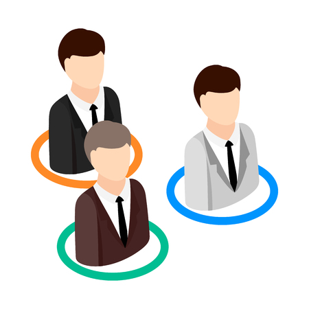candidates: Candidates competing for one position icon in isometric 3d style on a white background