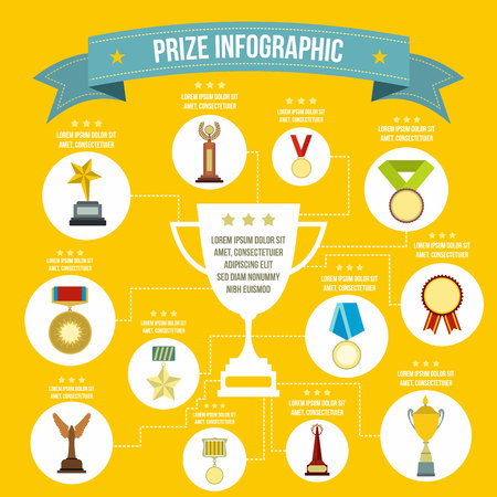 recognition: Prize infographic in flat style for any design