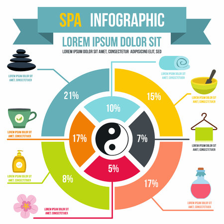 Spa infographic in flat style for any design Illustration