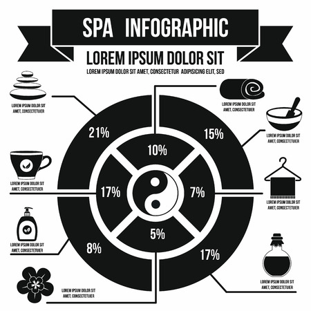 Spa infographic in simple style for any design