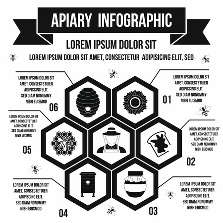 apiculture: Apiary infographic in simple style for any design