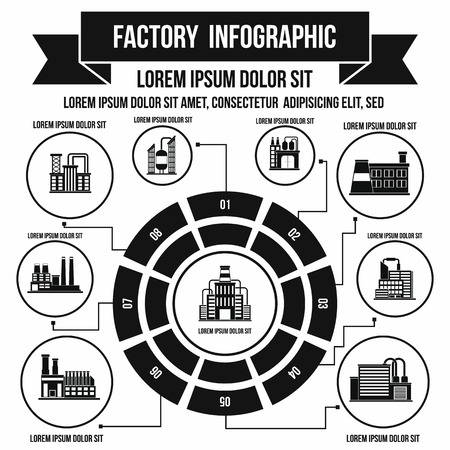 Factory infographic elements in simple style for any design
