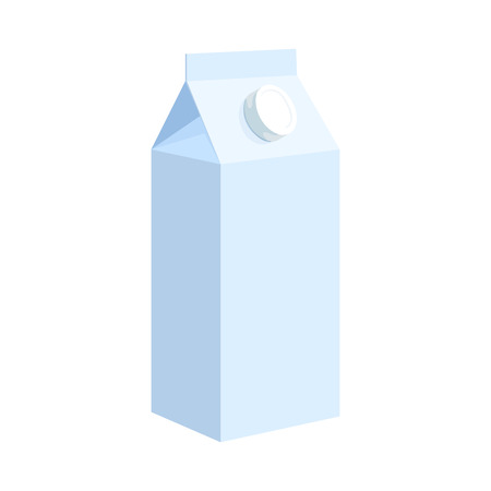 gable: Milk box icon in cartoon style on a white background