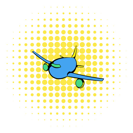 aircraft aeroplane: Aircraft icon in comics style on a white background