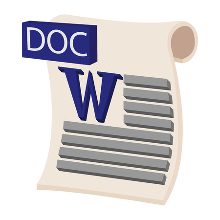 doc: DOC icon in cartoon style on a white background Illustration