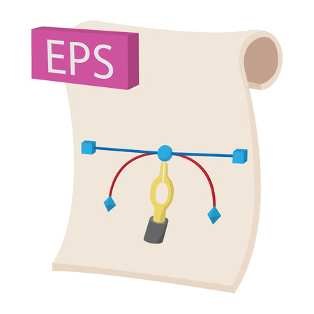eps icon: EPS icon in cartoon style on a white background