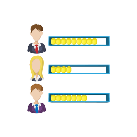 applauding: Ranking office worker icon in cartoon style on a white background