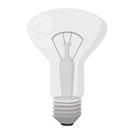 decorator: Decorator bulb icon in cartoon style on a white background