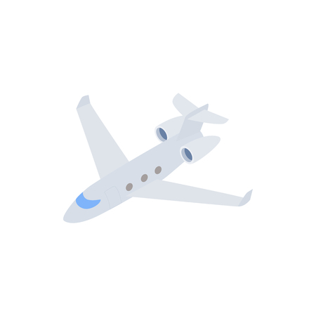 airliner: Passenger airliner icon in isometric 3d style on a white background