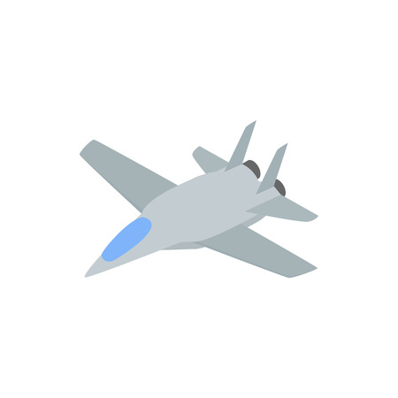 interceptor: Military aircraft  icon in comics style on a white background