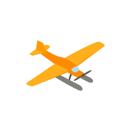 hydroplane: Hydroplane icon in isometric 3d style on a white background Illustration