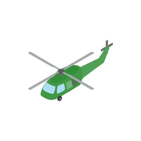 blackhawk helicopter: Military helicopter icon in isometric 3d style on a white background Illustration