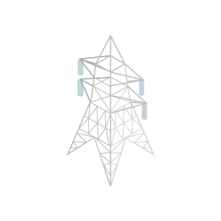 insulators: Pylon power icon in isometric 3d style on a white background Illustration