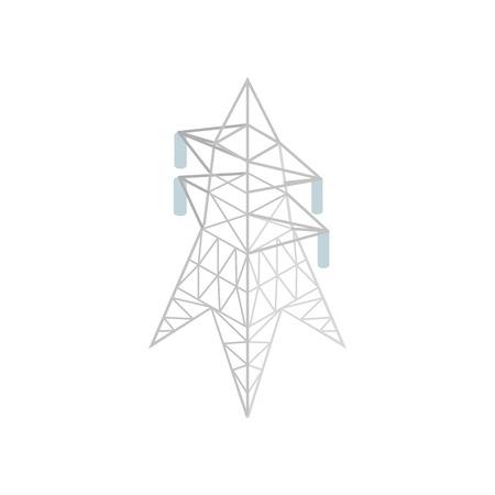 pylon: Pylon power icon in isometric 3d style on a white background Illustration