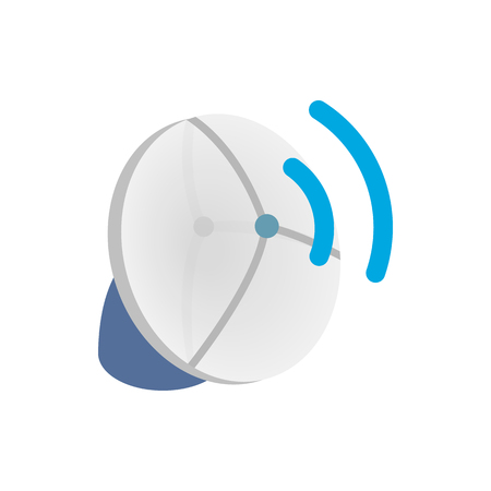 wireless icon: Wireless connection icon in isometric 3d style on a white background