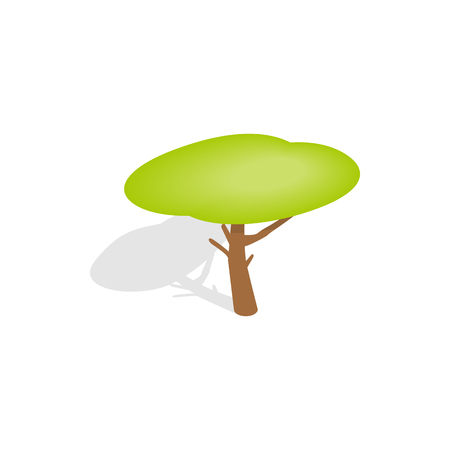 yellow crown: Yellow crown tree icon in isometric 3d style isolated with shadow on white background Illustration
