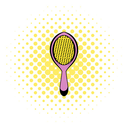 Massage comb icon in comics style on a white background