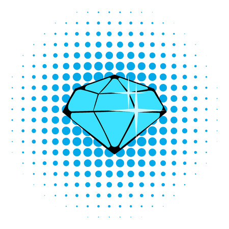 priceless: Crystal icon in comics style isolated on halftone background Illustration