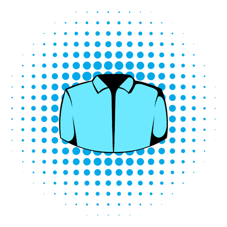 dress shirt: Dress shirt icon in comics style isolated on white background