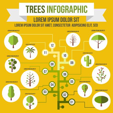 invernadero: infograf�a �rbol en estilo plano para cualquier dise�o