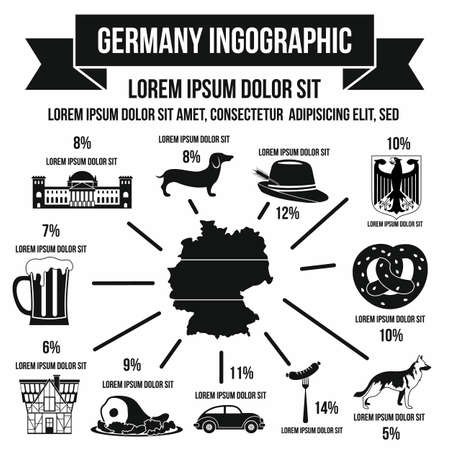 germanic people: German infographic elements in simple style for any design