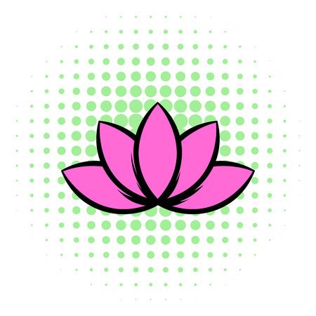 Lotus-Blume Symbol In Der Isometrischen 3D-Stil Auf Einem Weißen ...