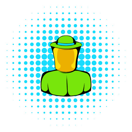 apiarist: Apiarist icon in comics style on a white background