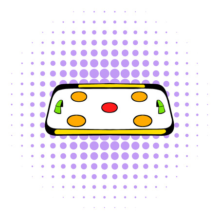 rink: Ice hockey rink icon in comics style on a white background