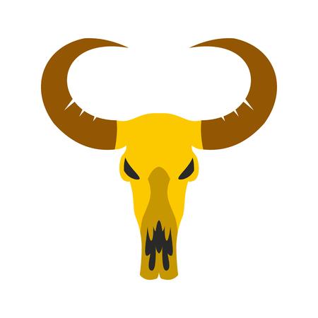 Buffalo skull icon isolated on white background Illustration