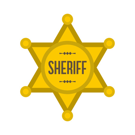 Sheriff star icon isolated on white background