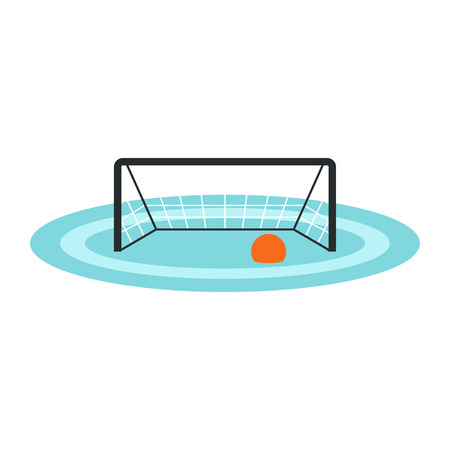 water polo: Water polo gates icon in flat style isolated on white background