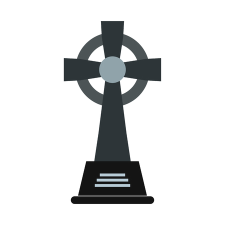 Tombstone icon in flat style isolated on white background